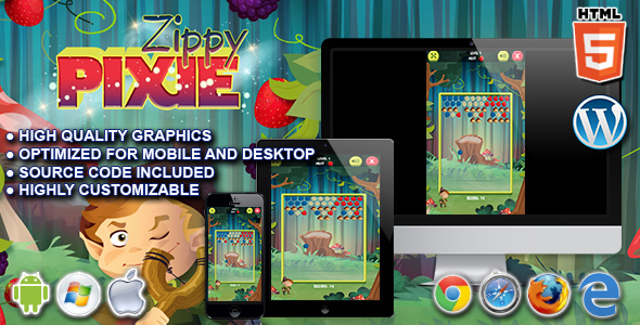 Zippy Pixie - HTML5 Puzzle Game - CodeCanyon Item for Sale