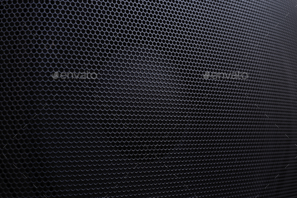 Speaker honeycomb grille background - Stock Photo - Images