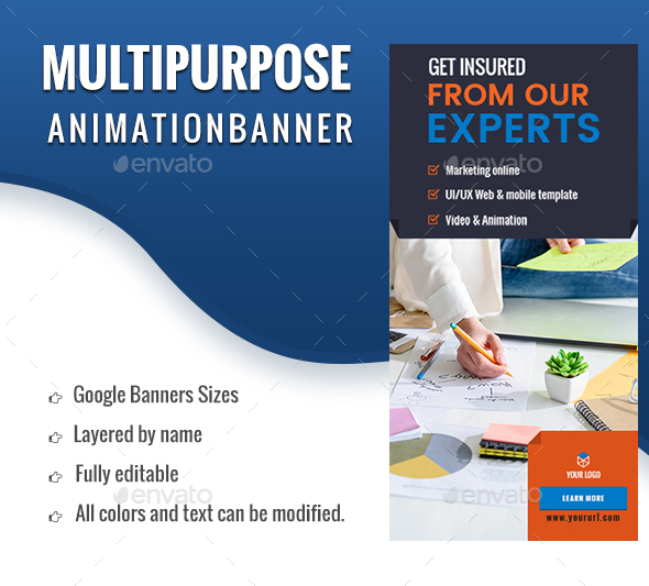 Animated GIF Banner Ads - Multipurpose, Corporate, Business Banner Ad - Banners & Ads Web Elements