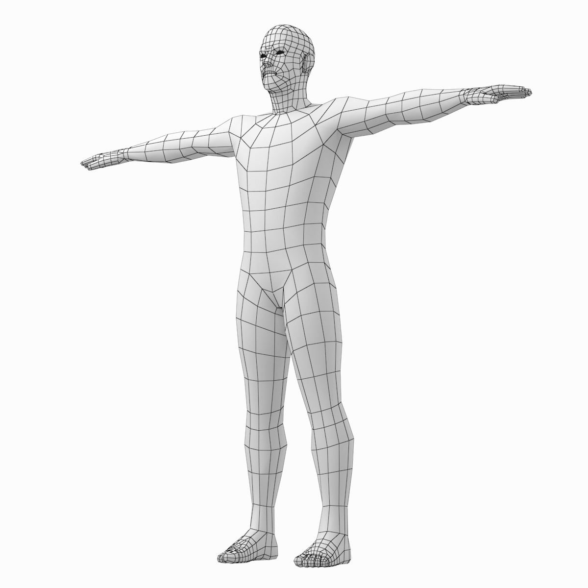 Male Low Poly Base Mesh In T Pose By Vk Studio 3docean