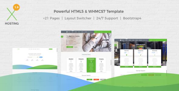 X-DATA - WHMCS7 & HTML5 Powerful Web Hosting Template - Hosting Technology