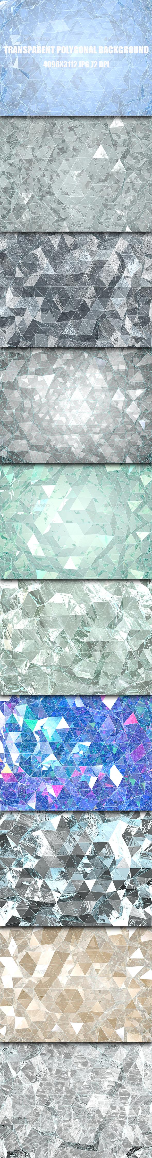 Transparent Polygonal Background - 3D Backgrounds