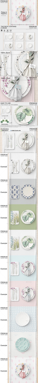 Plates & Tablecloth Set - Print Product Mock-Ups