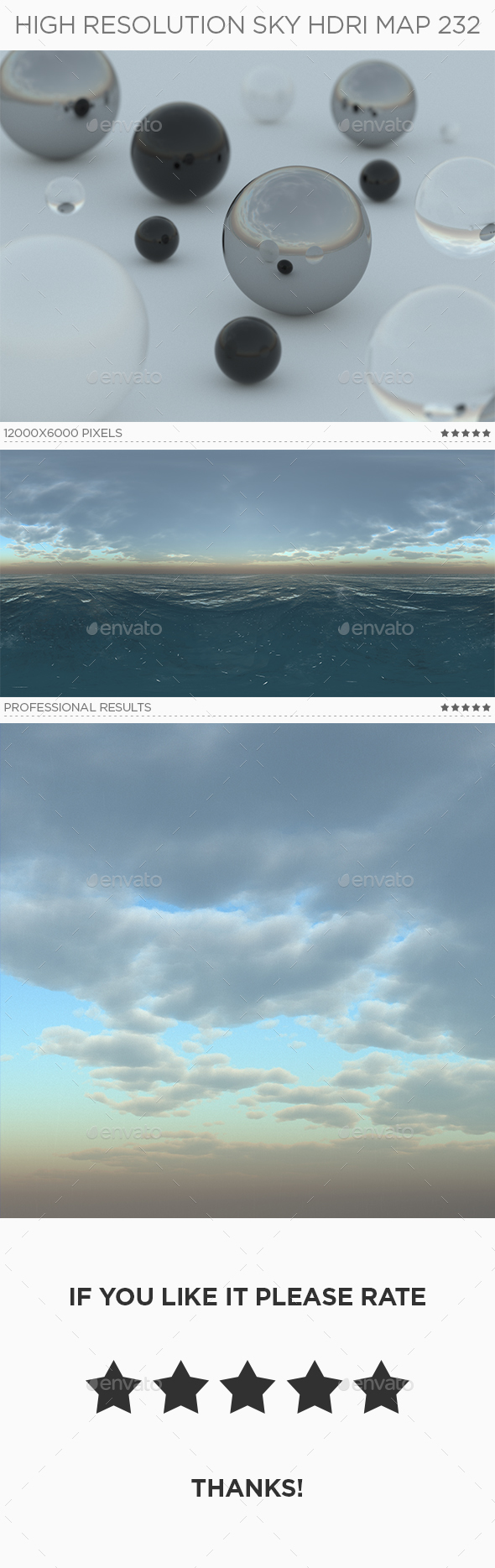 High Resolution Sky HDRi Map 232 - 3DOcean Item for Sale