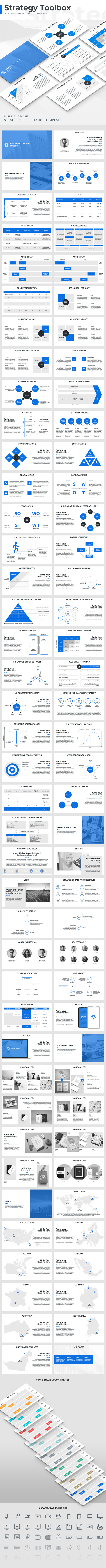 Strategy Toolbox Keynote Template - Business Keynote Templates