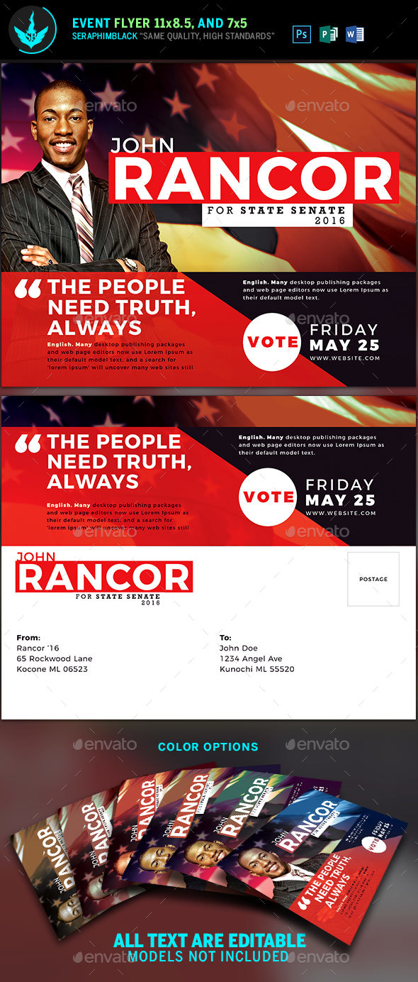 Political Flyer and Mailer Template - Flyers Print Templates