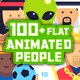 100+ Flat Animated Icons (People) - VideoHive Item for Sale
