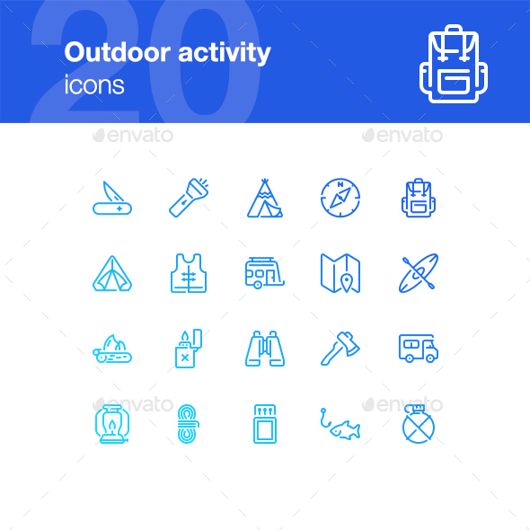 Outdoor Activity Icons - Miscellaneous Icons