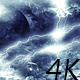 Flying Through Abstract Dark Thunder Clouds to Mysterious Planet and Big Star - VideoHive Item for Sale