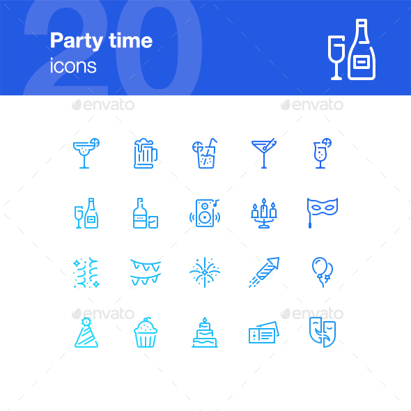 20 Party Icons - Miscellaneous Icons