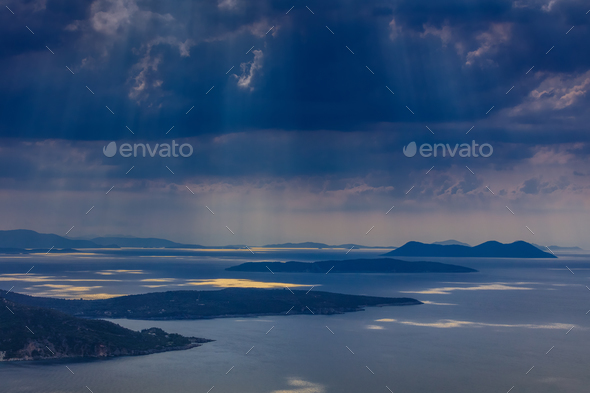 rain in Ionian Islands - Stock Photo - Images