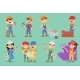 Vector Kids Builders Children Boys and Girls - GraphicRiver Item for Sale