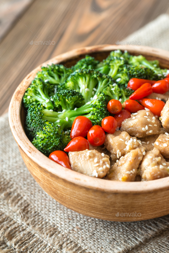 Broccoli stir-fry - Stock Photo - Images
