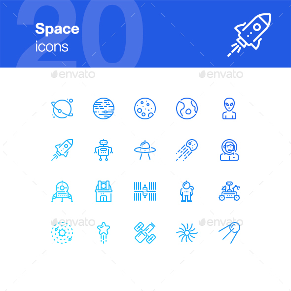 20 Space Icons - Technology Icons