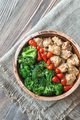 Bowl of broccoli and chicken stir-fry - PhotoDune Item for Sale