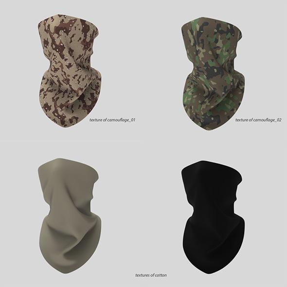 bandana, shawl, military cloth. - 3DOcean Item for Sale