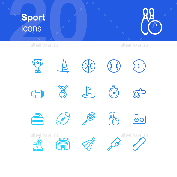 20 Sport Icons - Miscellaneous Icons