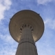 Watertower Against a Blue Sky with Clouds - VideoHive Item for Sale