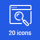 20 SEO Icons - GraphicRiver Item for Sale