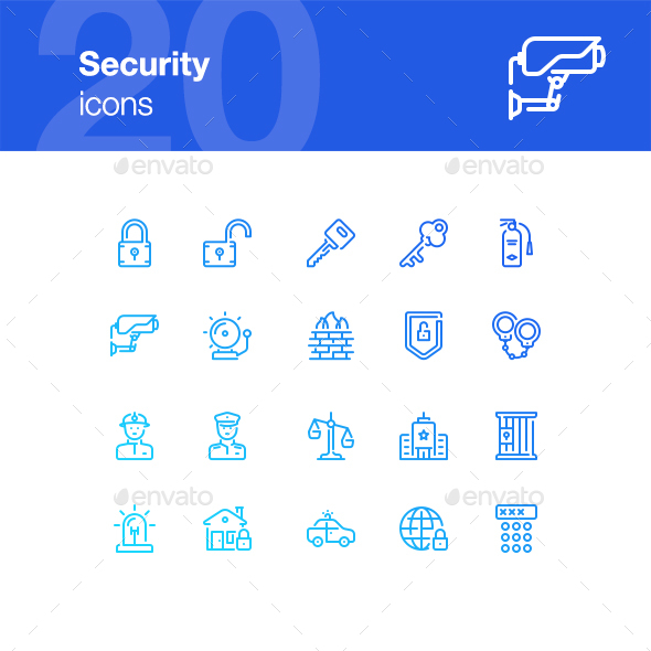 20 Security Icons - Miscellaneous Icons