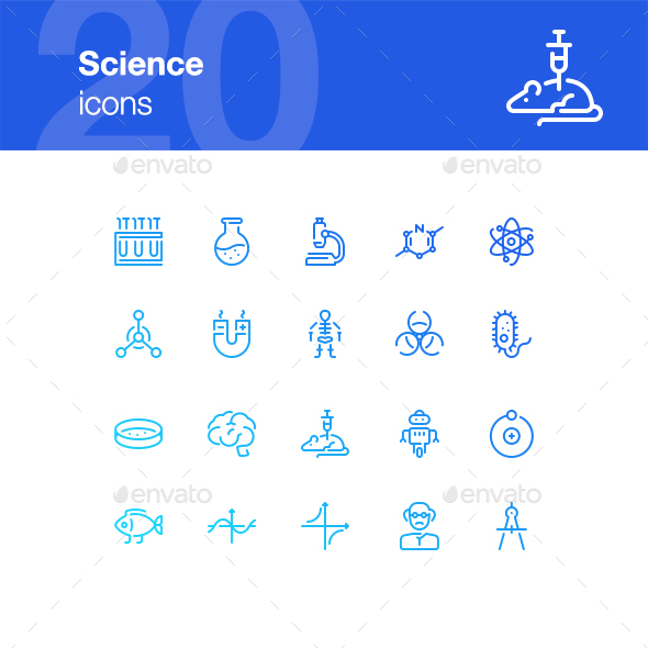 20 Science Icons - Miscellaneous Icons
