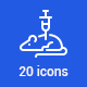 20 Science Icons - GraphicRiver Item for Sale
