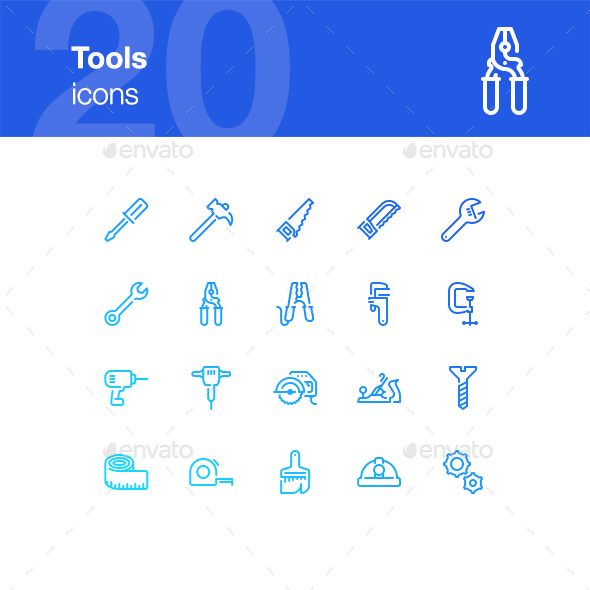 20 Tools Icons - Miscellaneous Icons