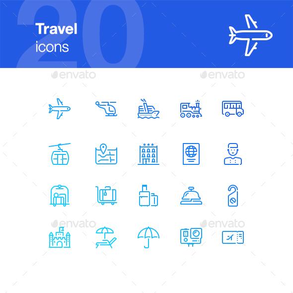 20 Travel Icons - Miscellaneous Icons