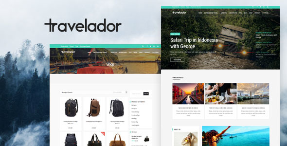 Travelador - WordPress Blog Travel & WooCommerce Shop Theme - Blog / Magazine WordPress