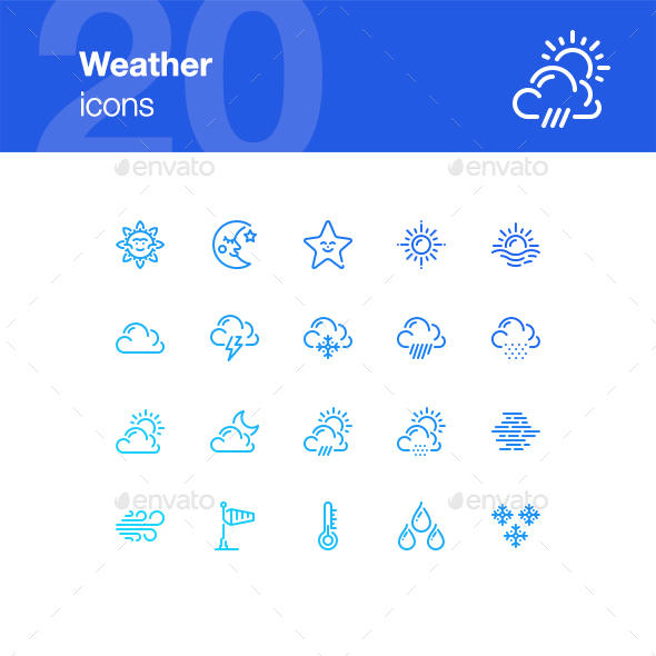 20 Weather Icons - Miscellaneous Icons