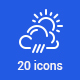 20 Weather Icons - GraphicRiver Item for Sale