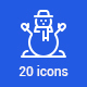 20 Christmas Icons - GraphicRiver Item for Sale