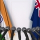 Flags of India and Australia at International Press Conference - VideoHive Item for Sale