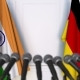 Flags of India and Germany at International Press Conference - VideoHive Item for Sale