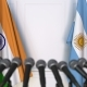 Flags of India and Argentina at International Press Conference - VideoHive Item for Sale