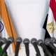 Flags of India and Egypt at International Press Conference - VideoHive Item for Sale
