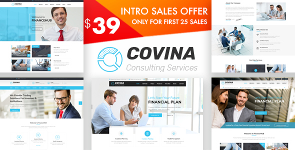 Image of Covina - Business Consulting and Professional Services WordPress Theme