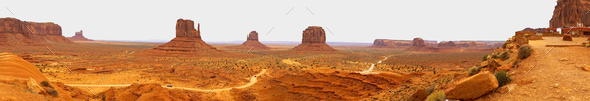Panoramic View Monument Valley Utah Navajo Nation Recreation Area - Stock Photo - Images