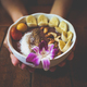 Vegan acai bowl breakfast closeup. - PhotoDune Item for Sale