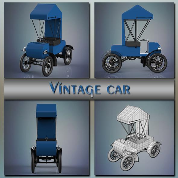 Vintage car - 3DOcean Item for Sale