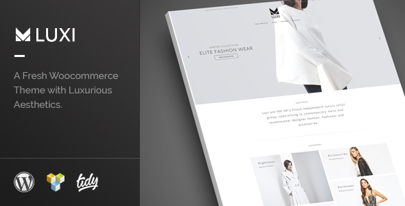 Luxi - Luxury Elegant WooCommerce WordPress Theme - WooCommerce eCommerce