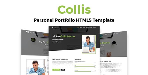 Collis - Personal Portfolio Template - Portfolio Creative