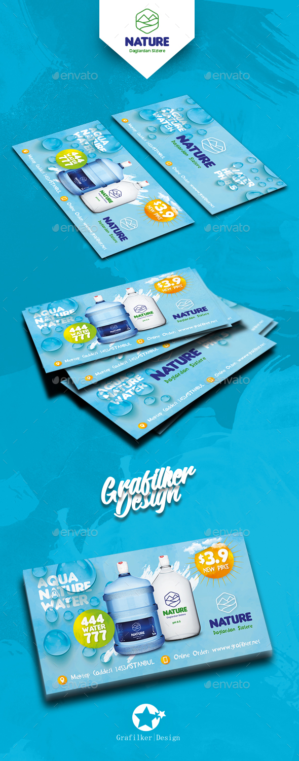 Water Service Business Card Templates by grafilker | GraphicRiver