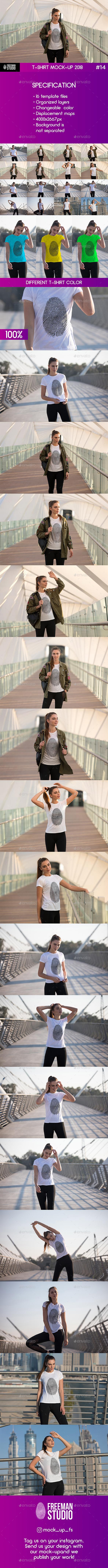 T-Shirt Mock-Up 2018 #14 - T-shirts Apparel