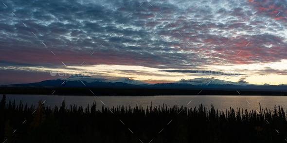 Willow Lake Overlook Wrangell St-Elias Southern Alaska - Stock Photo - Images
