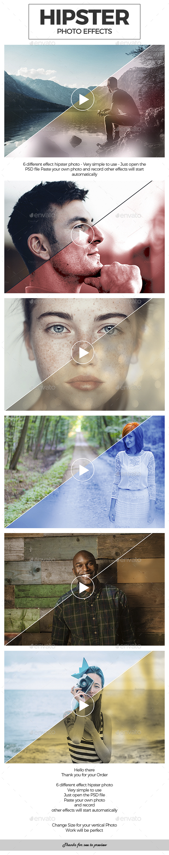 Hipster Photo Effects - Photo Templates Graphics