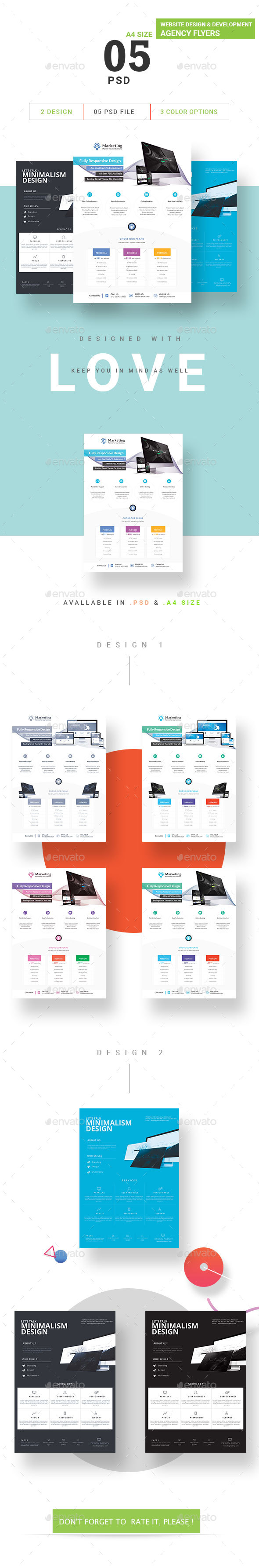 Website Design & Development Agency Flyers Bundle - Flyers Print Templates