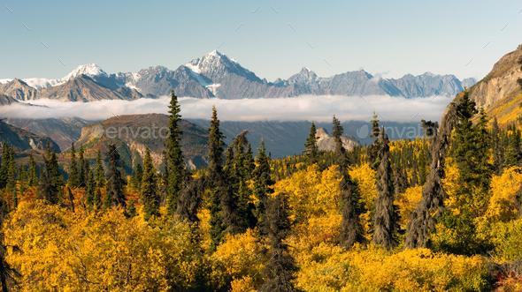 Chugach Mountains Matanuska River Valley Alaska United States - Stock Photo - Images