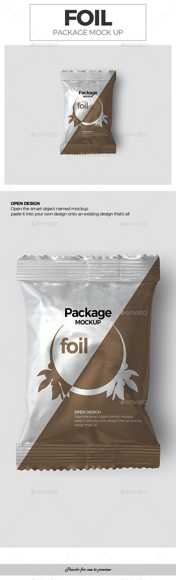 Foil Package Mockup - Packaging Product Mock-Ups