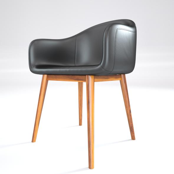 Black Leather Loft Chair - 3DOcean Item for Sale
